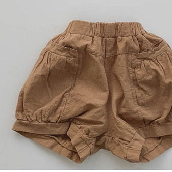 Korean Apparel - Muffin Kid's Shorts Earth Brown Cotton | BIEN BIEN bienbienshop.com
