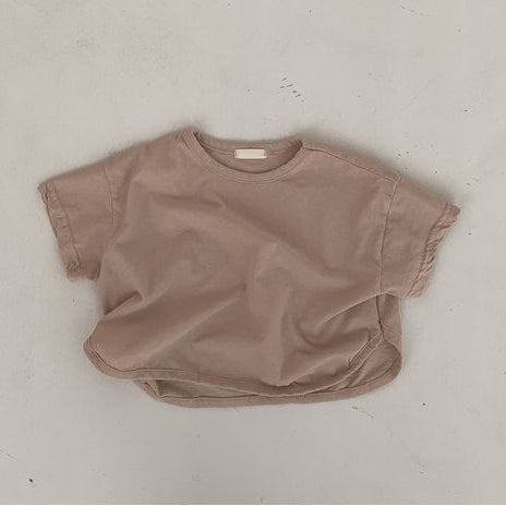 Korean Apparel - Bam Kid's Short Sleeve Tee Fawn Cotton | BIEN BIEN bienbienshop.com