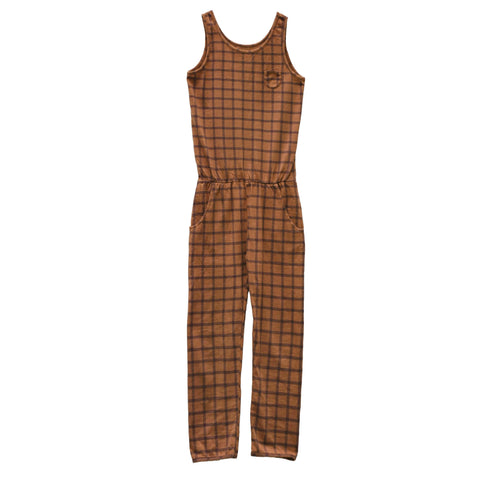 Le Petit Germain Kid's Combichino Jumpsuit Arizona Check | BIEN BIEN