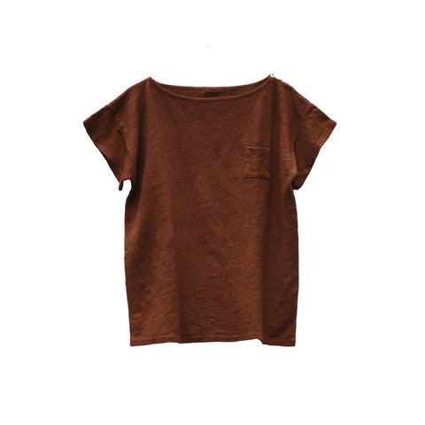 Le Petit Germain Emilin Unisex Kid's Linen T-Shirt Arizona | BIEN BIEN