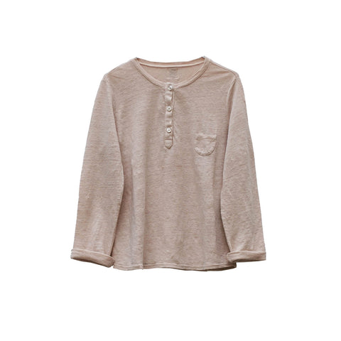 Le Petit Germain Orson Baby & Kid's Henley Shirt in Pierre | BIEN BIEN
