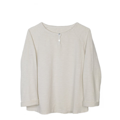 Le Petit Germain Floo Long Sleeve T-Shirt in Hot Milk | BIEN BIEN