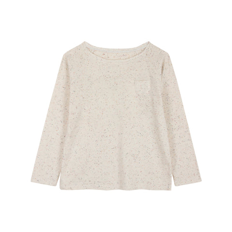 Le Petit Germain Spot Baby & Kid's Long Sleeve Tee Hot Milk | BIEN BIEN www.bienbienshop.com
