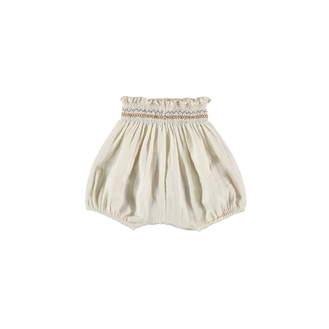 Liilu Smocked Bloomer Bottom Cru Natural | Organic Cotton | BIEN BIEN www.bienbienshop.com