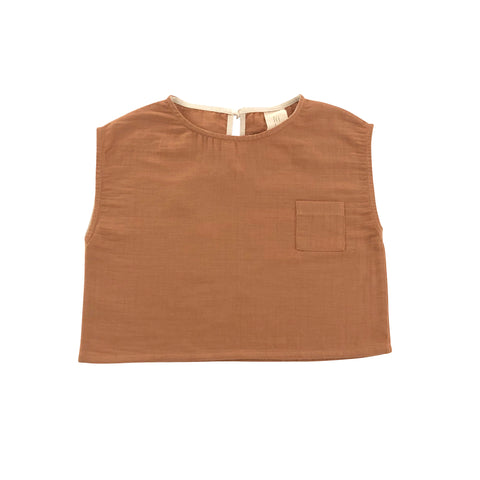 Liilu Baby & Kid's Pocket T-Shirt Terracotta Organic Cotton | BIEN BIEN www.bienbienshop.com