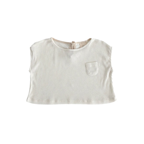 Liilu Ribbed Short Sleeve Tee Baby & Kid's Milk Organic Cotton | BIEN BIEN www.bienbienshop.com