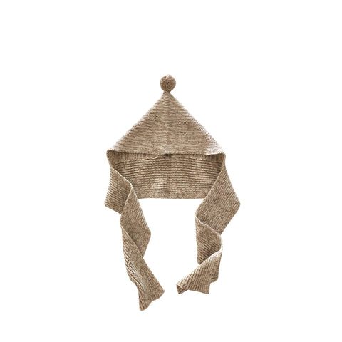 Liilu Pixie Baby & Kid's Bonnet & Scarf Natural/Brown  | BIEN BIEN