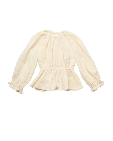 Liilu Amelie Kid's Blouse Vanilla | Organic cotton top | BIEN BIEN