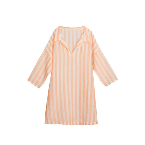 Little Creative Factory Striped Girl's Tunic in Apricot Stripe | BIEN BIEN