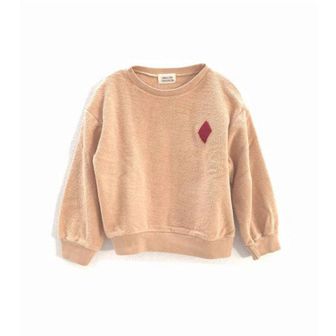 Long Live the Queen Organic Terry Kid's Sweatshirt Natural | BIEN BIEN www.bienbienshop.com