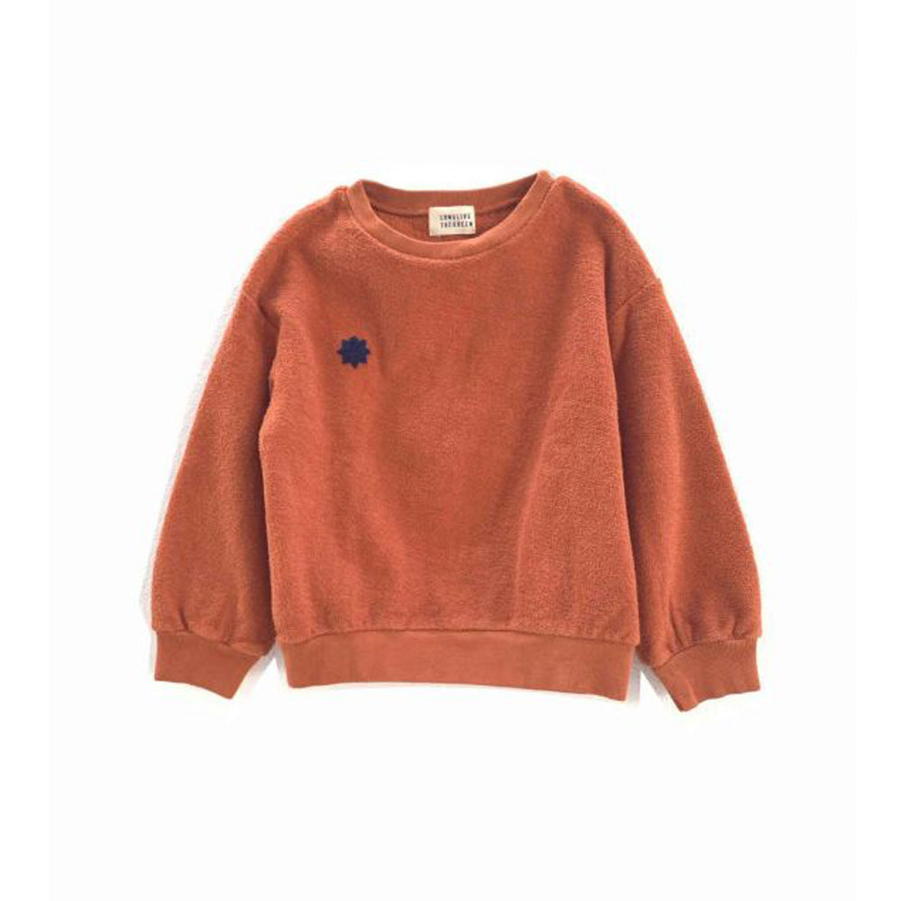 Long Live the Queen Organic Terry Kid's Sweatshirt Pumpkin | BIEN BIEN www.bienbienshop.com