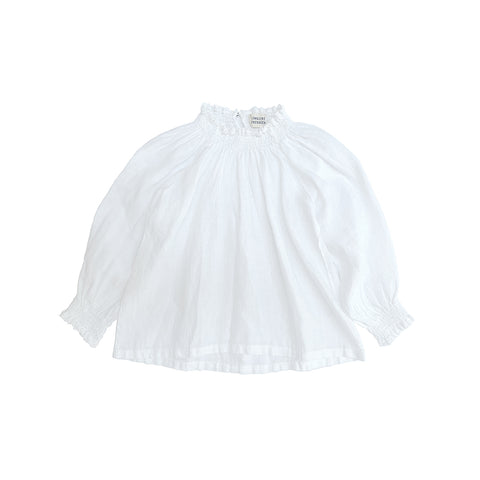 Long Live the Queen Linen Kid's Blouse Linen White | BIEN BIEN bienbienshop.com