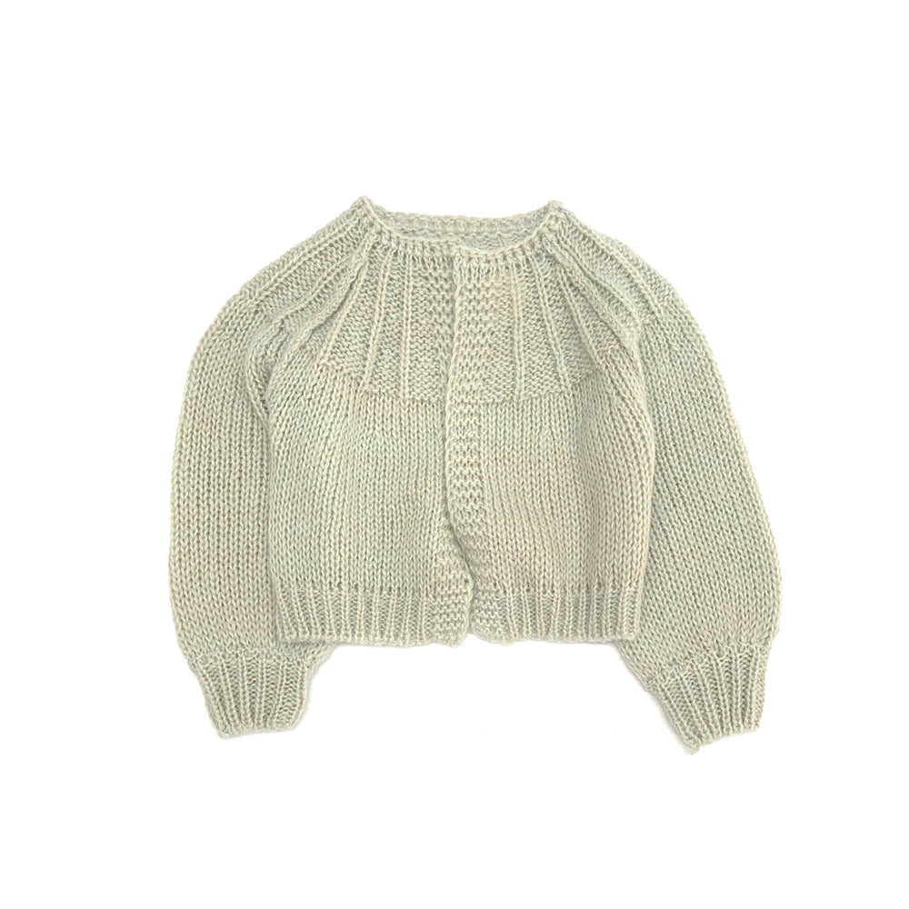 Long Live the Queen Mohair/Merino Kid's Cardigan Sweater Pale Green | BIEN BIEN bienbienshop.com