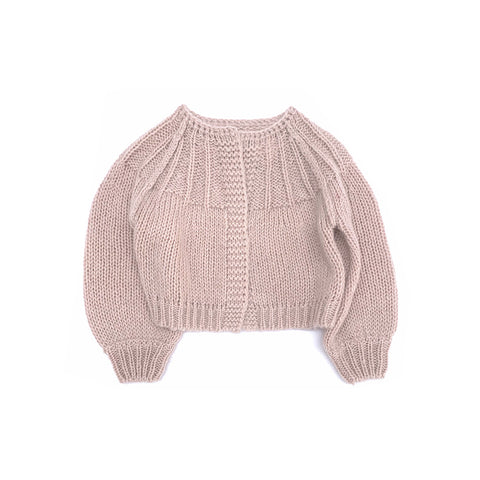 Long Live the Queen Mohair/Merino Kid's Cardigan Sweater Pale Pink | BIEN BIEN bienbienshop.com