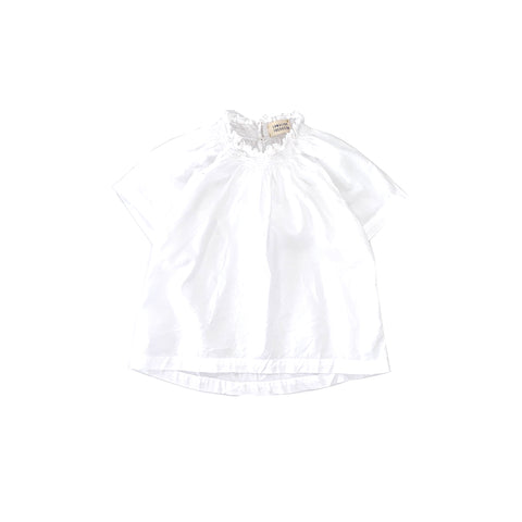 Long Live the Queen Smocked Blouse White Organic Cotton | BIEN BIEN