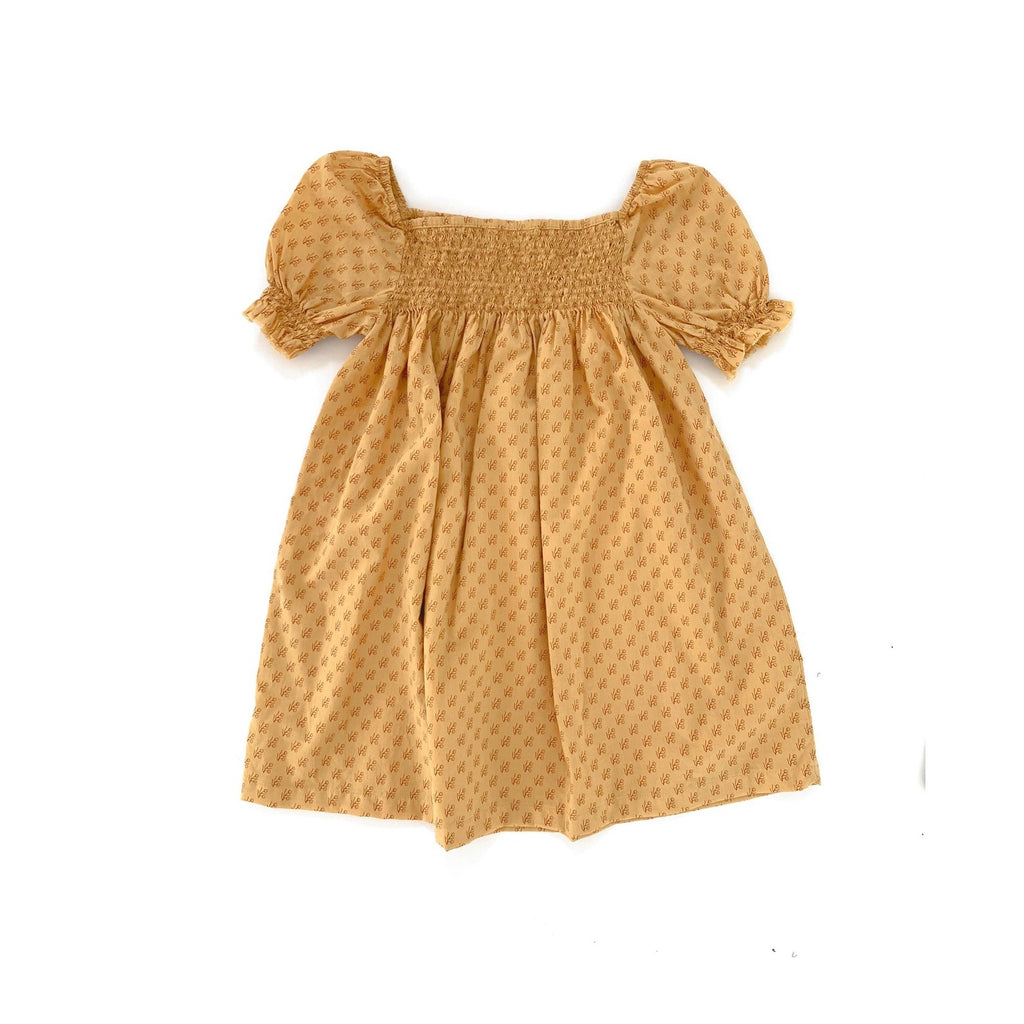 Long Live the Queen Kid Babydoll Smocked Dress Yellow Floral | BIEN BIEN
