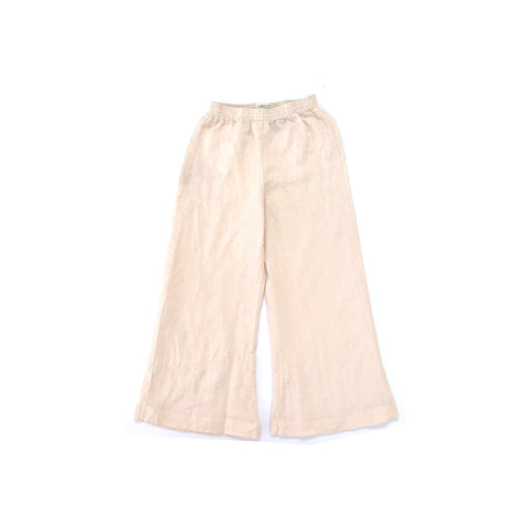 Long Live the Queen Linen Kid's Relaxed Pant Beige | BIEN BIEN