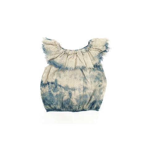 Long Live the Queen Linen Ruffle Blouse Tie Dye Cloud | BIEN BIEN