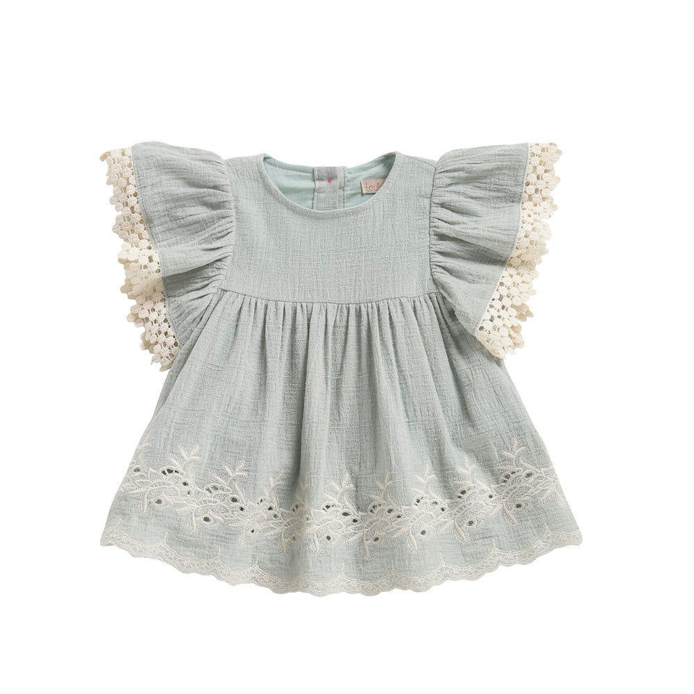 Louise Misha Bahamas Baby & Girl's Dress Almond | BIEN BIEN www.bienbienshop.com