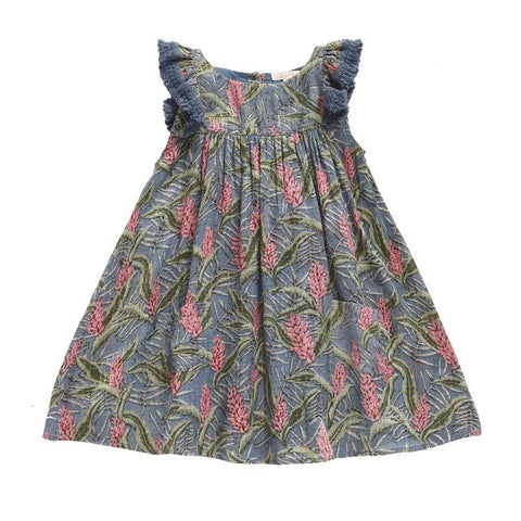Louise Misha Costa Baby & Girl's Dress Lagoon Leaves | BIEN BIEN www.bienbienshop.com