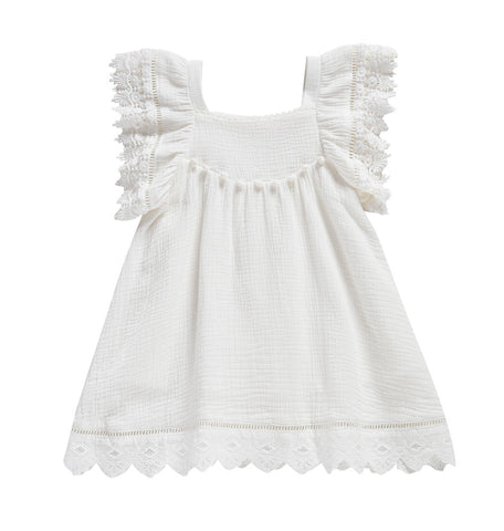 Louise Misha Grenadine Baby & Girl's Dress White Cotton | BIEN BIEN