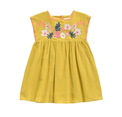 Louise Misha Baby & Girl's Summer Dress Saffron Yellow | BIEN BIEN www.bienbienshop.com