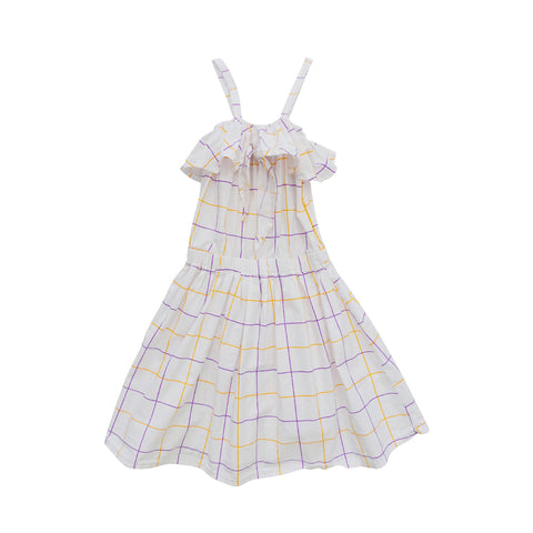 Nico Nico Luau Knot Girl's Dress in Lychee Check | BIEN BIEN