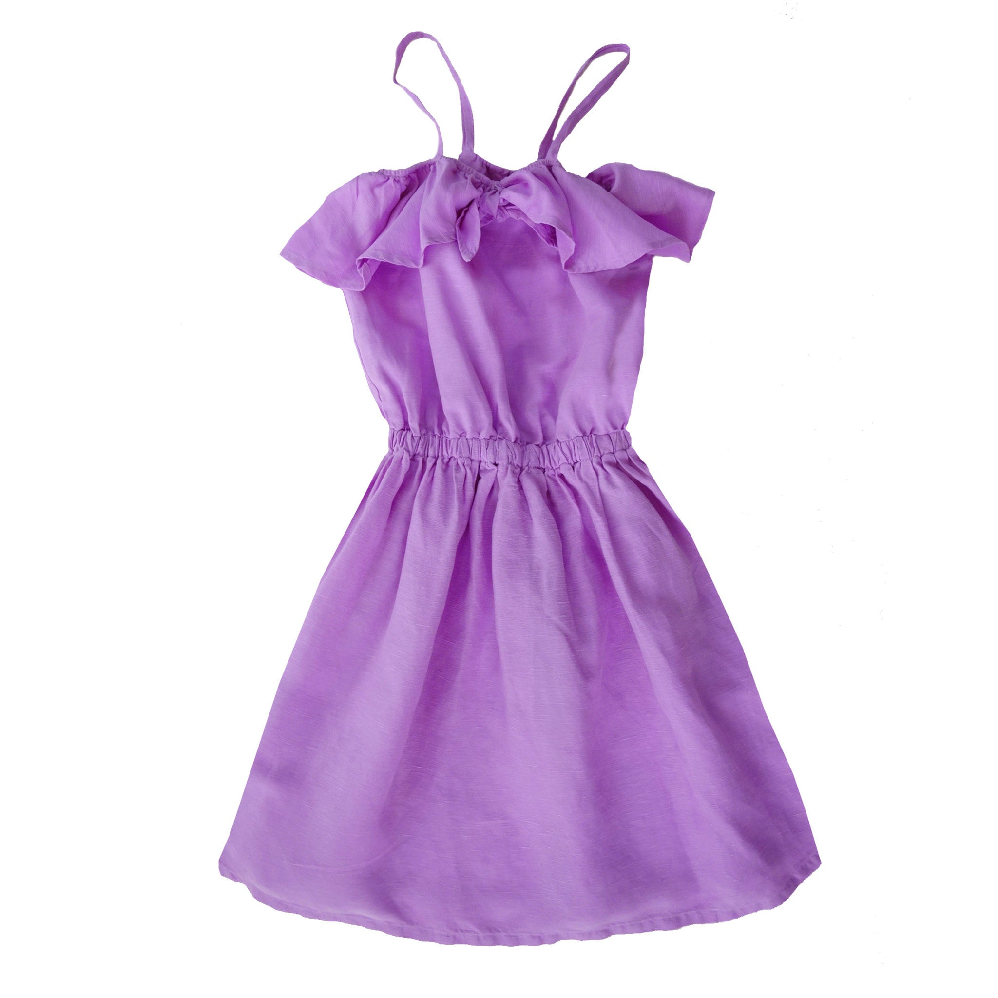 Nico Nico Luau Knot Girl's Dress in Orchid | BIEN BIEN