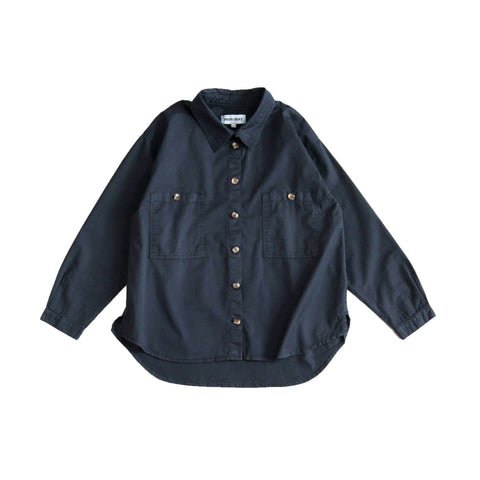 Main Story Kid's Unisex Buttondown Collared Shirt Phantom | BIEN BIEN bienbienshop.com