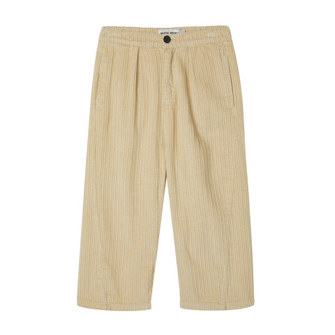 Main Story Kid Unisex Barrel Chino Trouser Gravel Tan Cord | BIEN BIEN bienbienshop.com