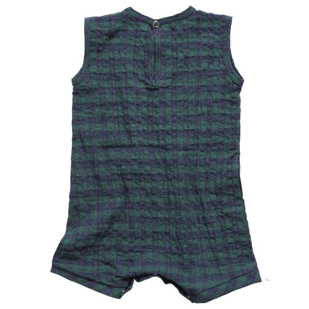 Makié Tommie Baby One-Piece in Green Check | BIEN BIEN