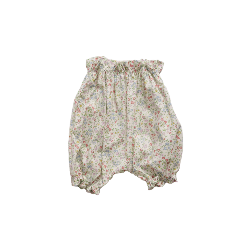 Makié Lin Baby Girl Bloomer in Green Liberty Floral | BIEN BIEN