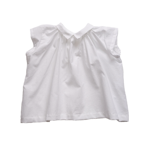 Makié Michaela Baby Girl Blouse in White Check | BIEN BIEN