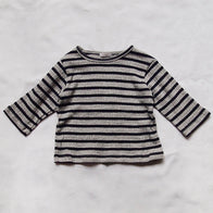 Makié Carson Baby & Kid's Long Sleeve T-Shirt in Gray/Navy | BIEN BIEN