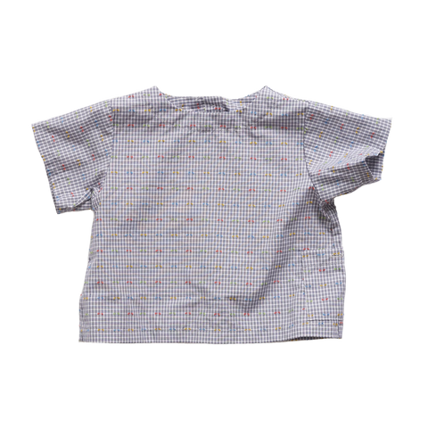 Makié Jody Back Button Baby Shirt in Gingham Dot | BIEN BIEN