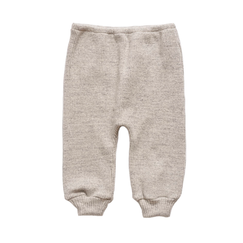 Makié Ribbed Unisex Baby Sweatpant in Grey Melange  | BIEN BIEN
