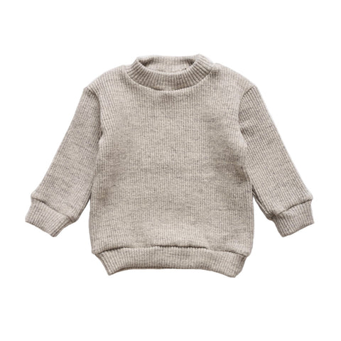 Makié Ribbed Unisex Baby Sweatshirt in Grey  | BIEN BIEN