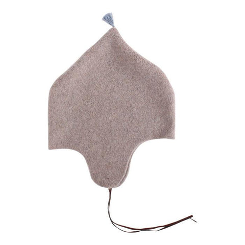 Makié Fleece Baby Bonnet with Tassel in Beige  | BIEN BIEN