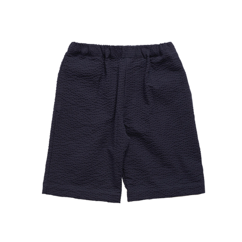 Makié Daniel Boy's Short in Navy Seersucker | BIEN BIEN