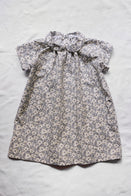 Makié Adel Baby & Kid's Dress Grey Flower Cotton | BIEN BIEN www.bienbienshop.com