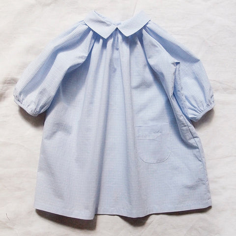 Makié Emma Baby Girl Dress in Blue Check | BIEN BIEN