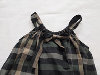 Makie Faith Kid's Sundress Green/Black Check Cotton | BIEN BIEN www.bienbienshop.com