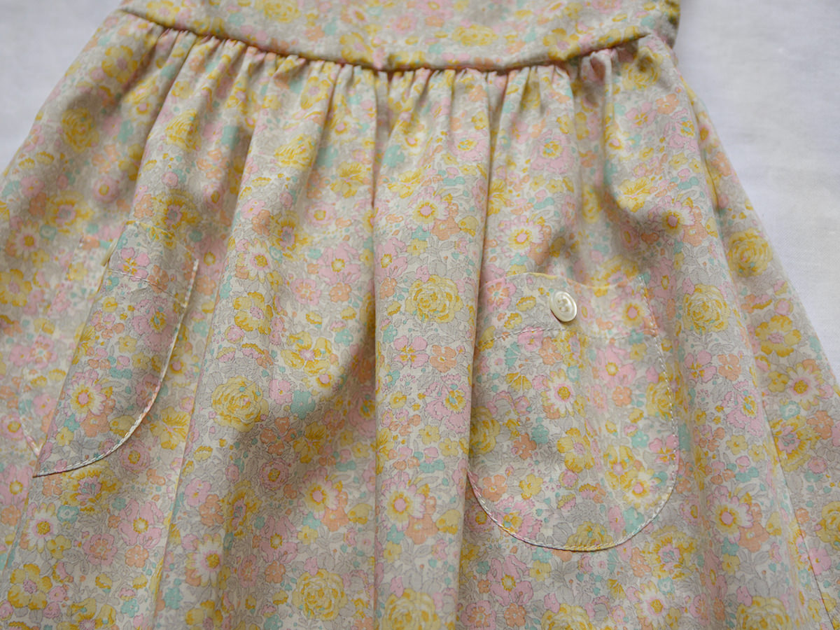 Makié Trish Baby & Kid's Dress Yellow/Pink Flower Cotton | BIEN BIEN www.bienbienshop.com