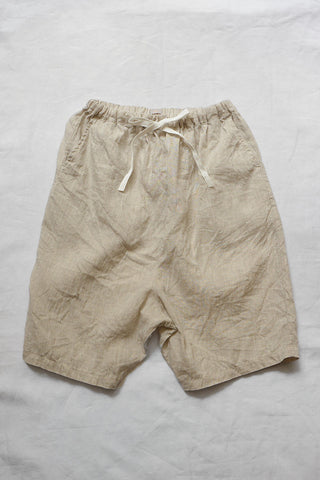Makié Lulu Kid's Cropped Sarouel Natural Linen SALE  | BIEN BIEN
