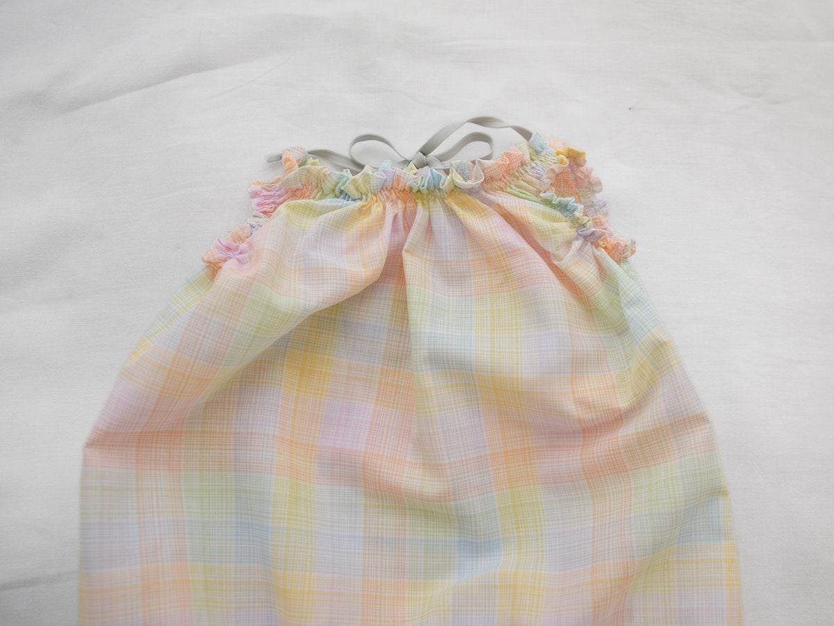 Makié Celina Baby Balloon Romper Rainbow Check Cotton | BIEN BIEN www.bienbienshop.com