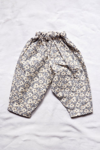 Makie Adel Baby & Kid's Balloon Pant Gray Liberty Flower Cotton | BIEN BIEN www.bienbienshop.com