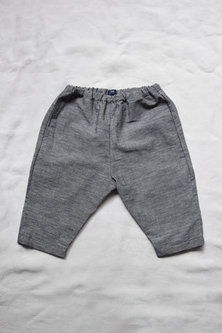 Makié Jimmy Baby & Kid's Pants Chambray Blue Linen/Cotton | BIEN BIEN www.bienbienshop.com