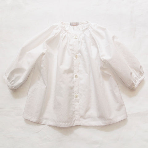 Makié Allison Baby Girl Blouse in White Stars | BIEN BIEN