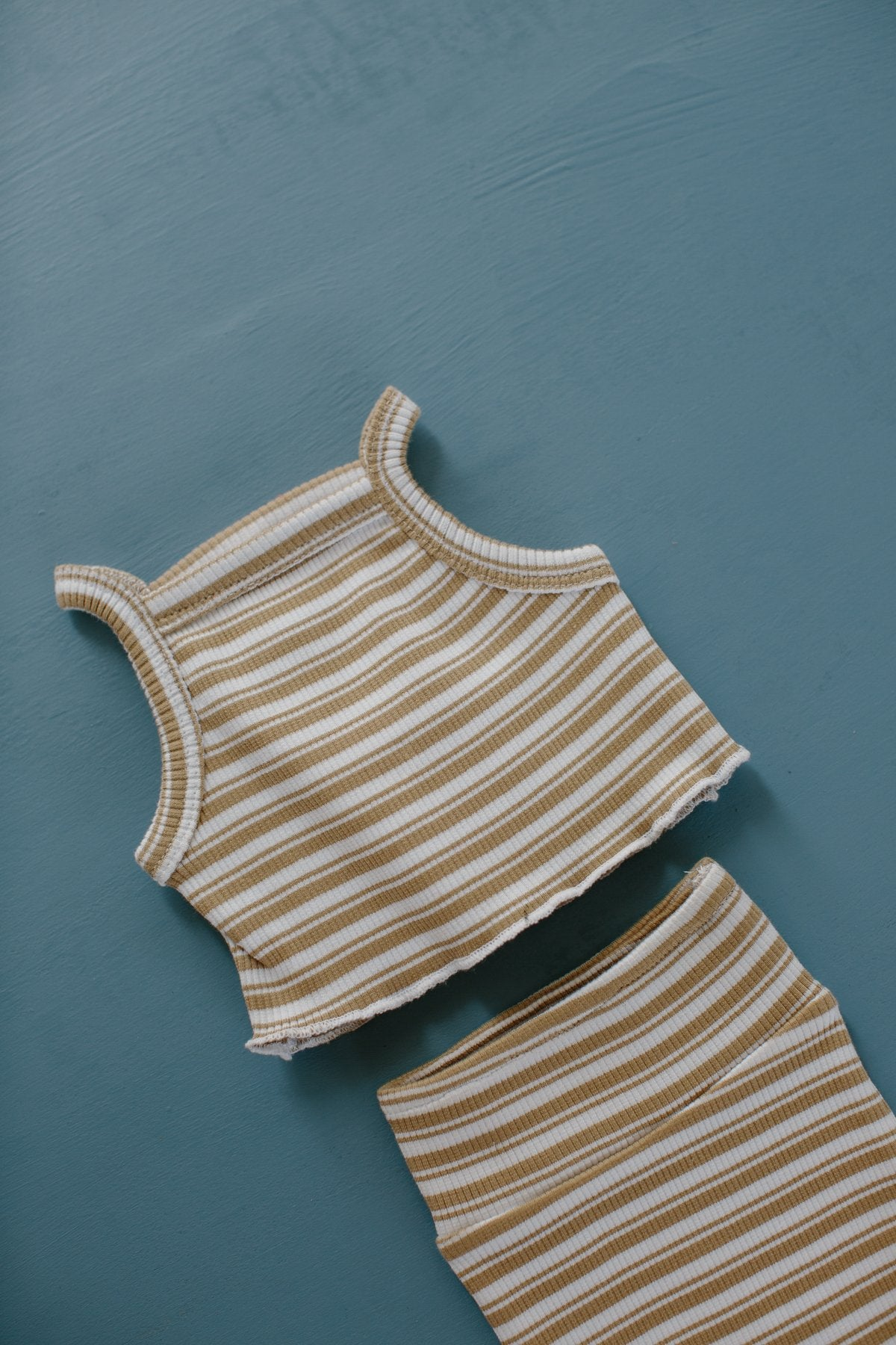 Millk Australia Baby & Kid's Weekly Ensemble in Tan Stripe | BIEN BIEN