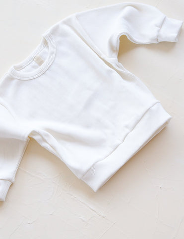 New - Millk Weekender Baby & Kid Rib Cotton Jumper Vanilla | BIEN BIEN www.bienbienshop.com